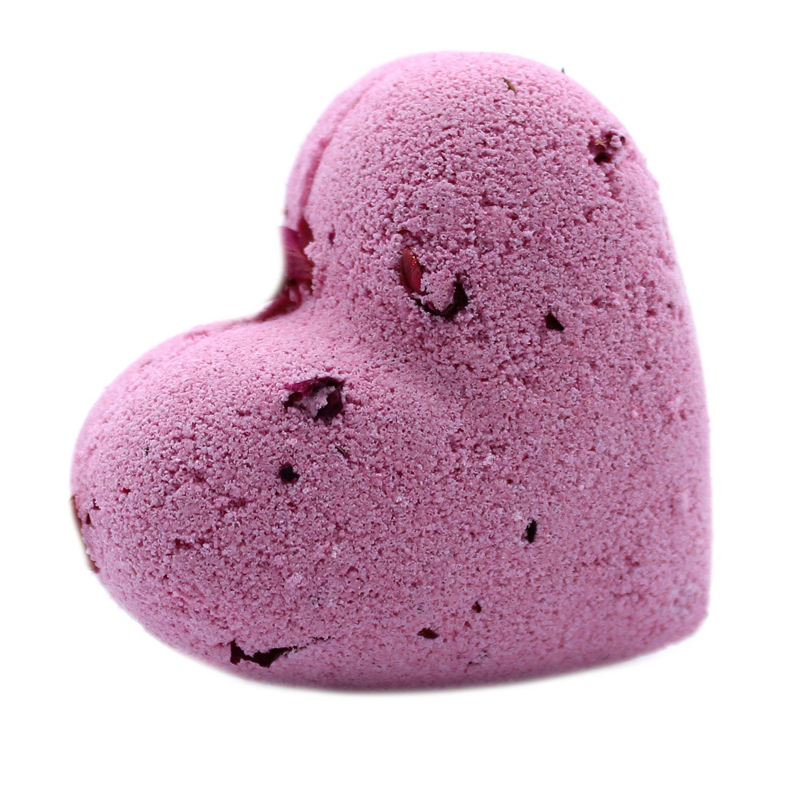Love Heart Bath Bomb 70g Ylang   Rose