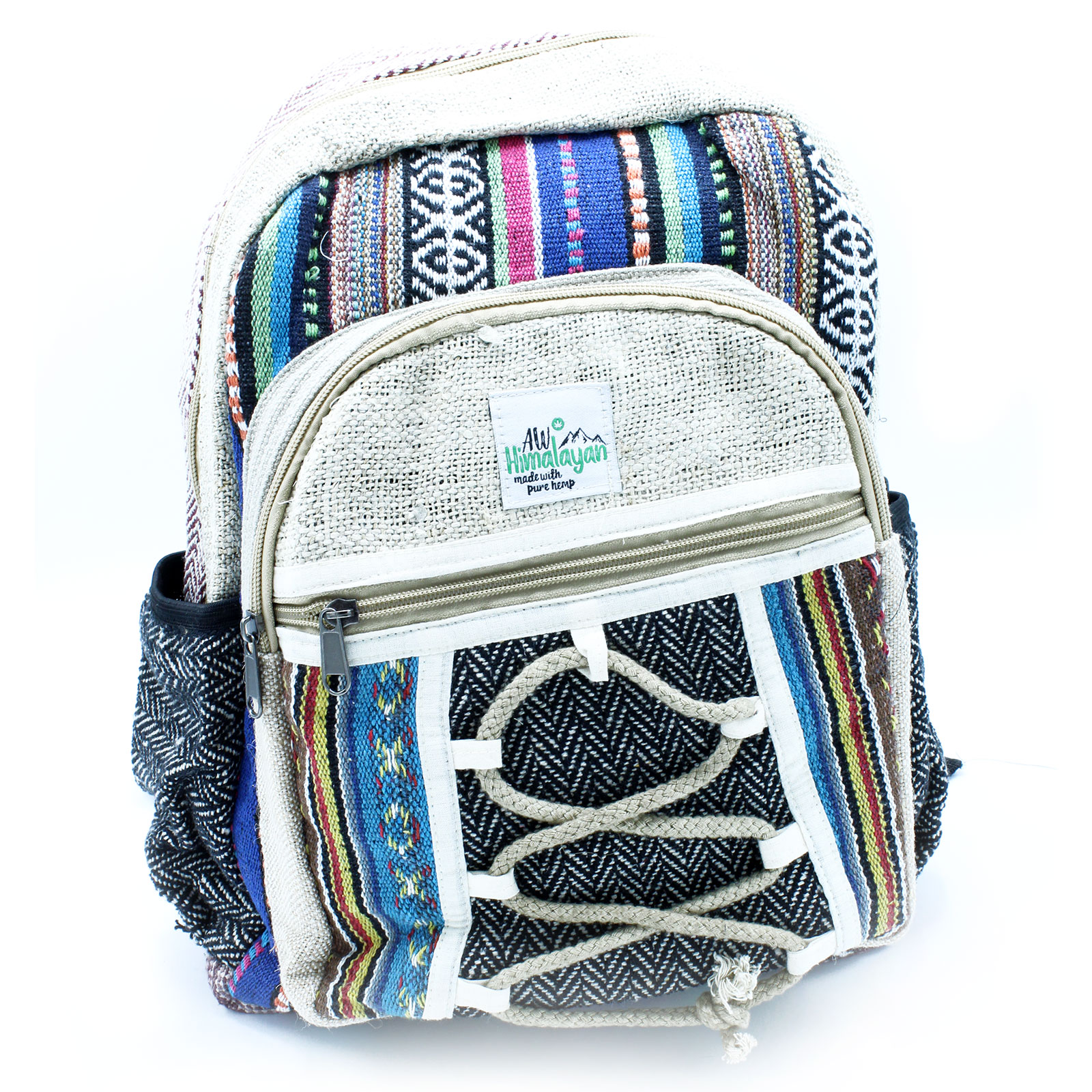 Small Backpack Rope and Pockets Style