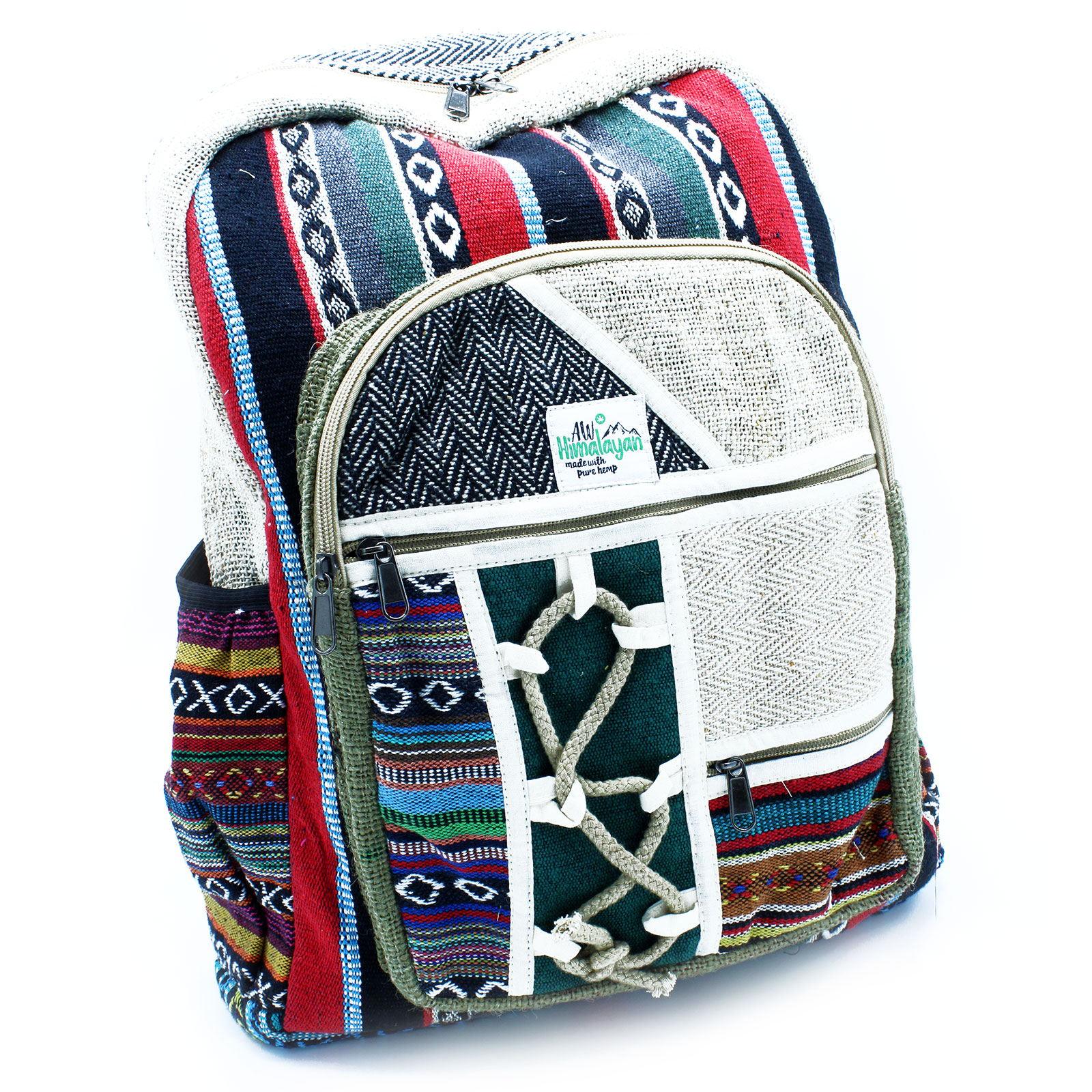Large Backpack Rope and Pockets Style