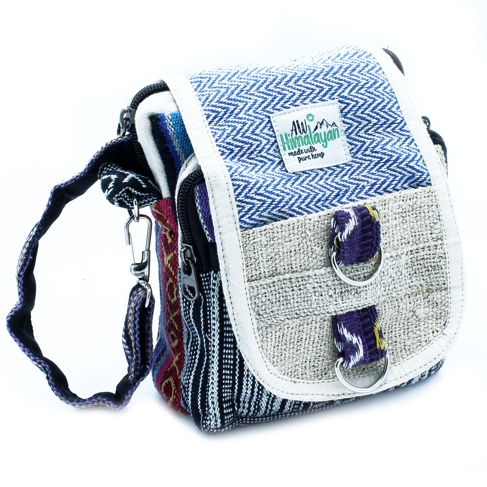 BodyCross Natural Hemp and Jhari Travel Bag
