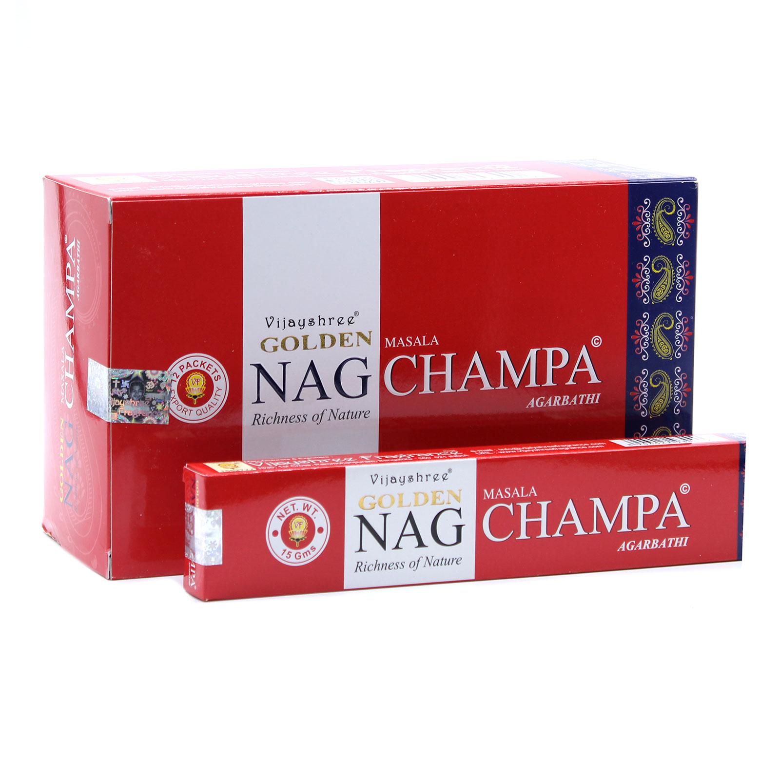 15g Golden Nag Champa Incense