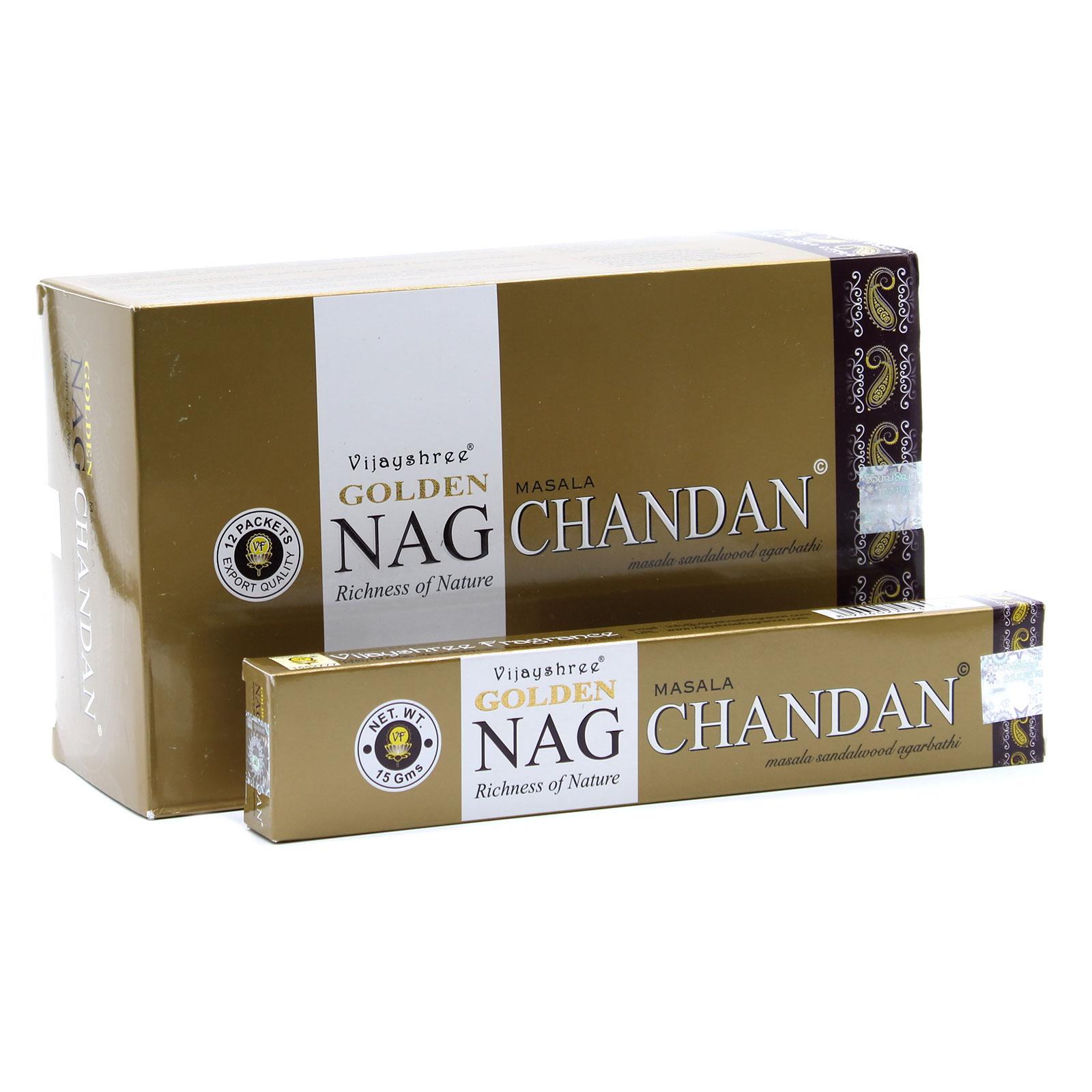 15g Golden Nag Chandan Incense