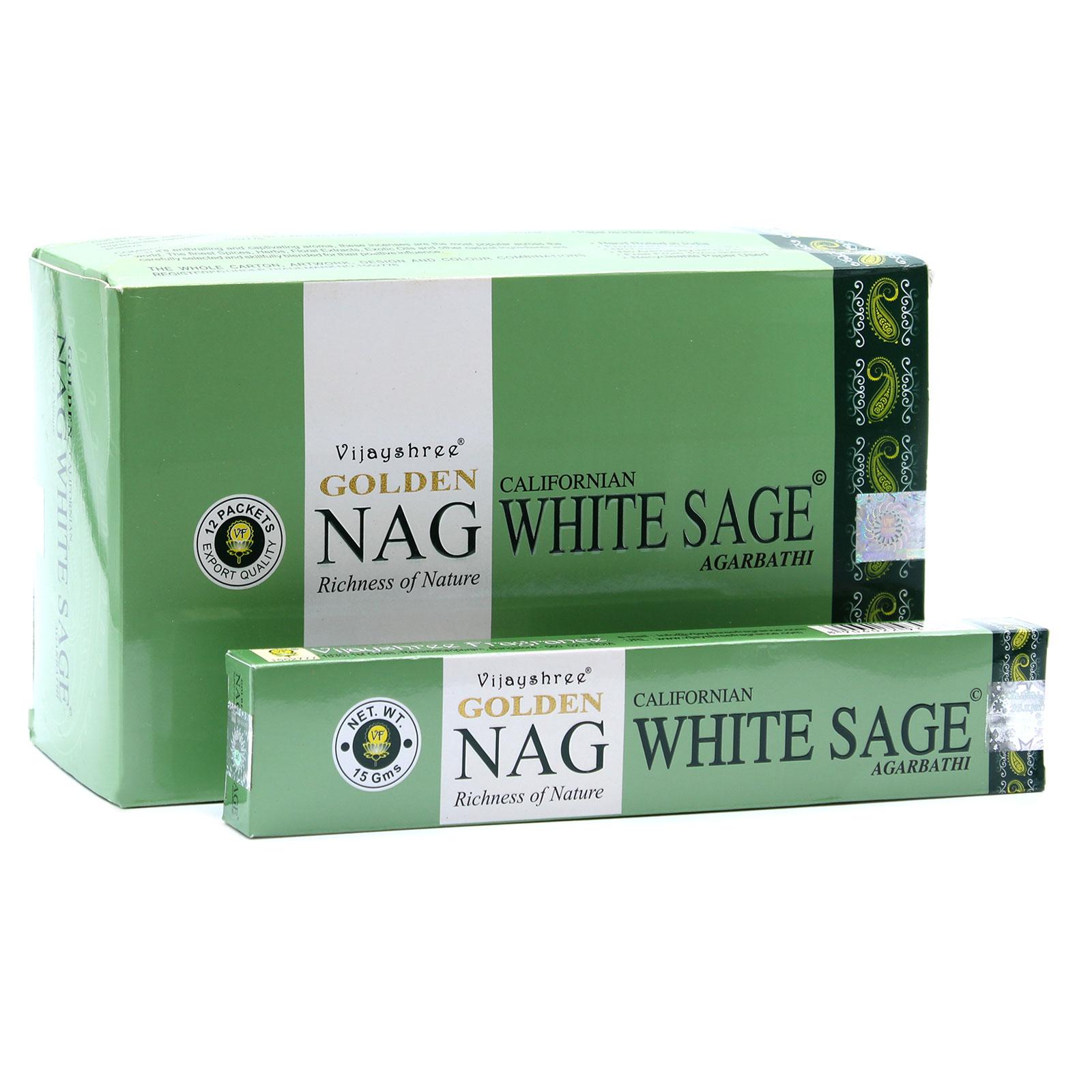 15g Golden Nag White Sage Incense