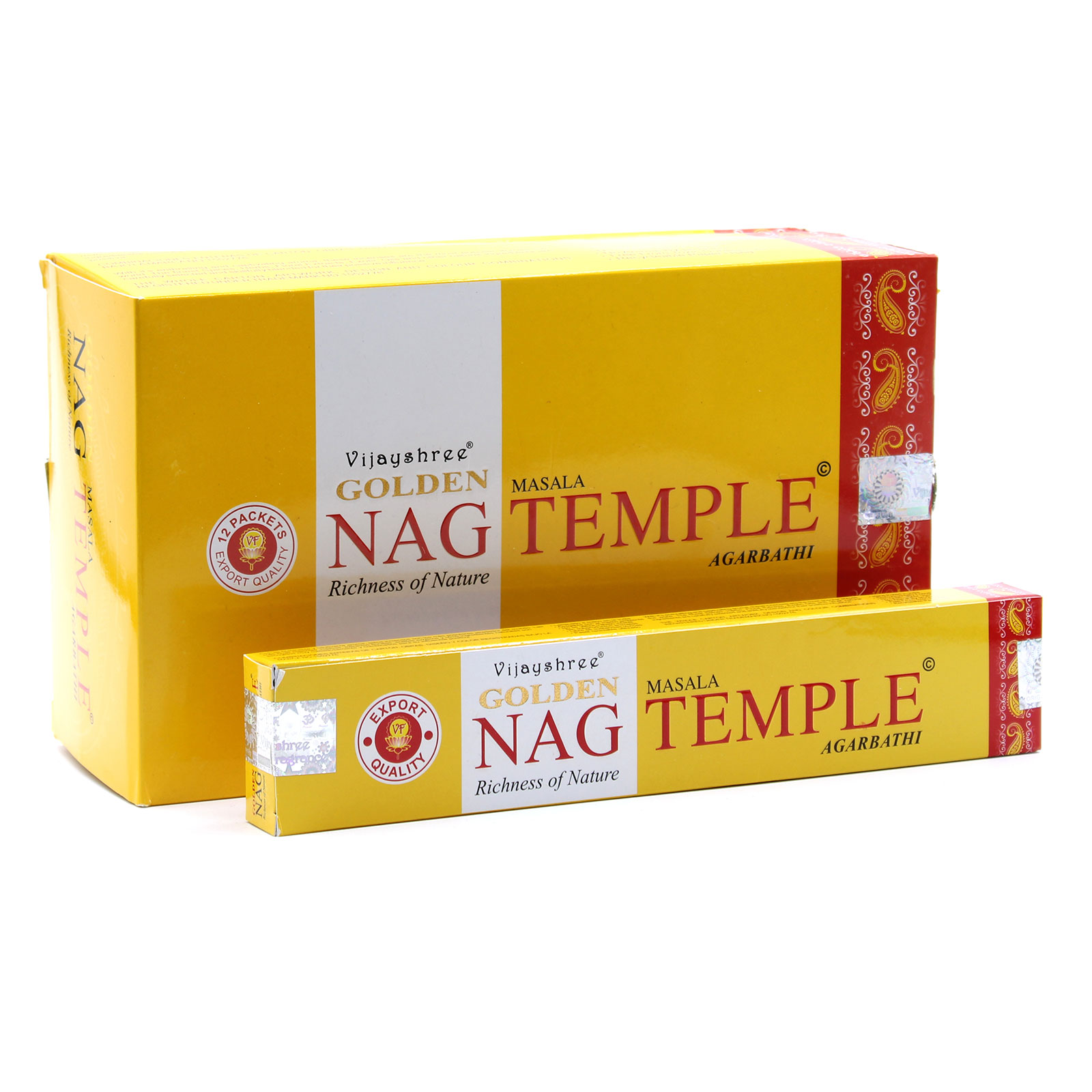 15g Golden Nag Temple Incense