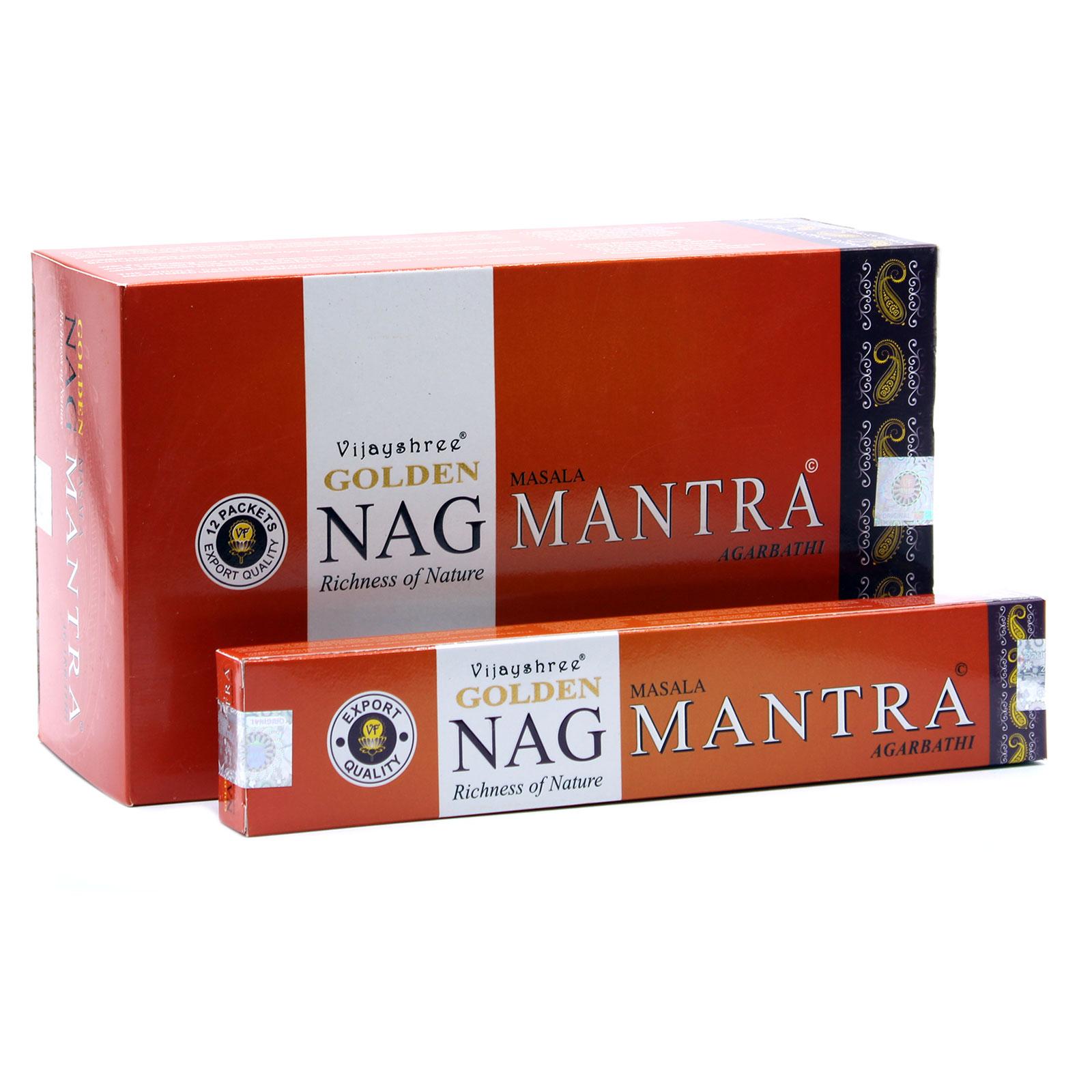 15g Golden Nag Mantra Incense