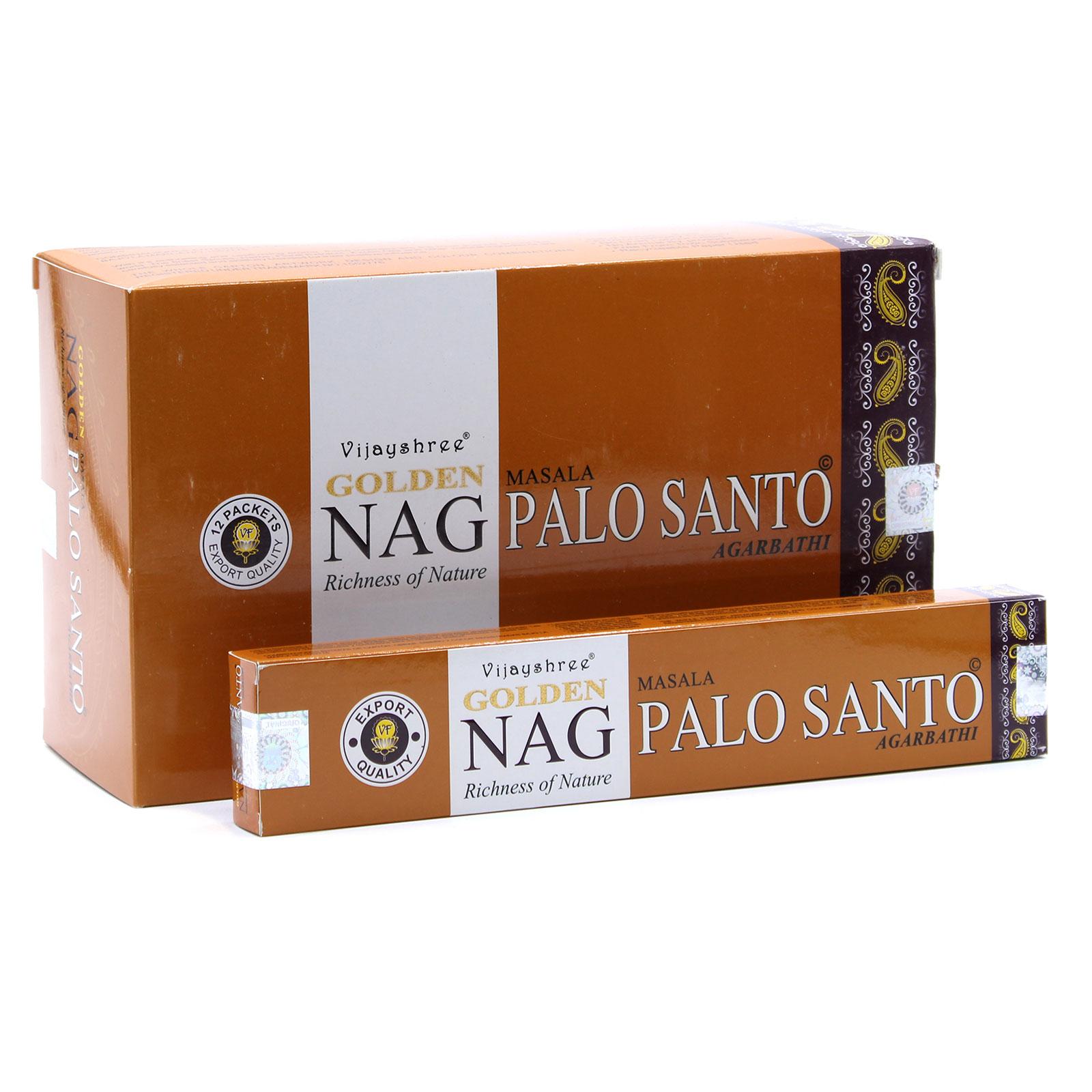 15g Golden Nag Palo Santo Incense