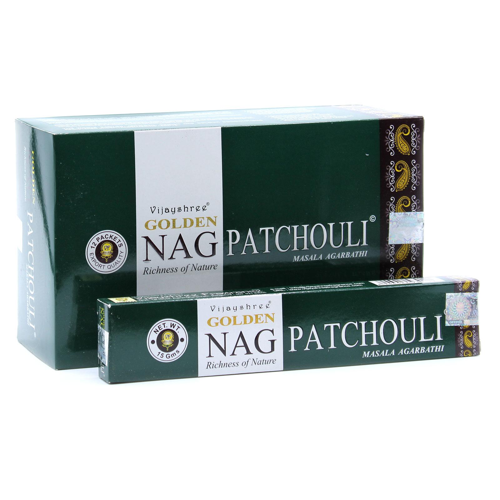 15g Golden Nag Pathouli Incense