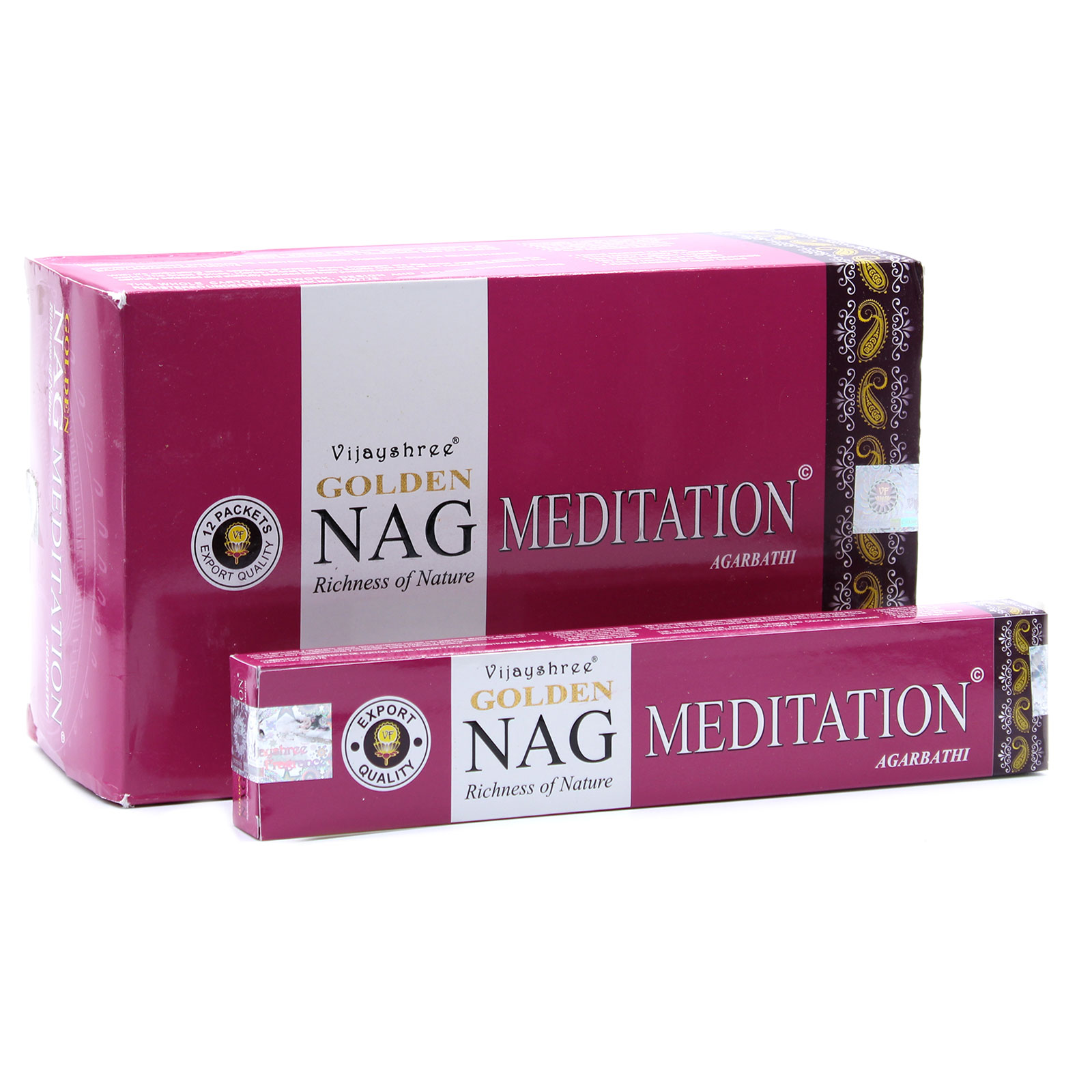 15g Golden Nag Meditation Incense
