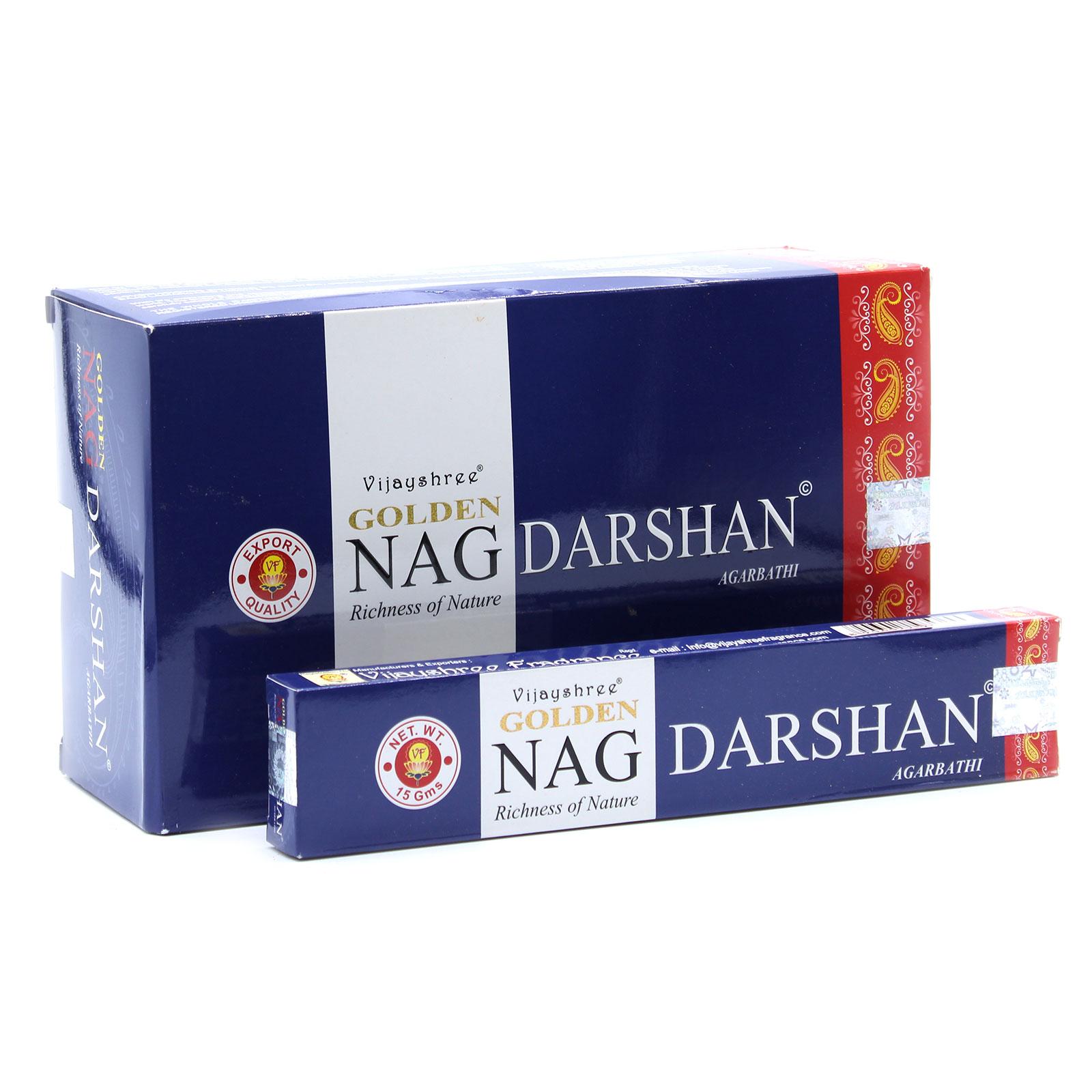 15g Golden Nag Darshan Incense