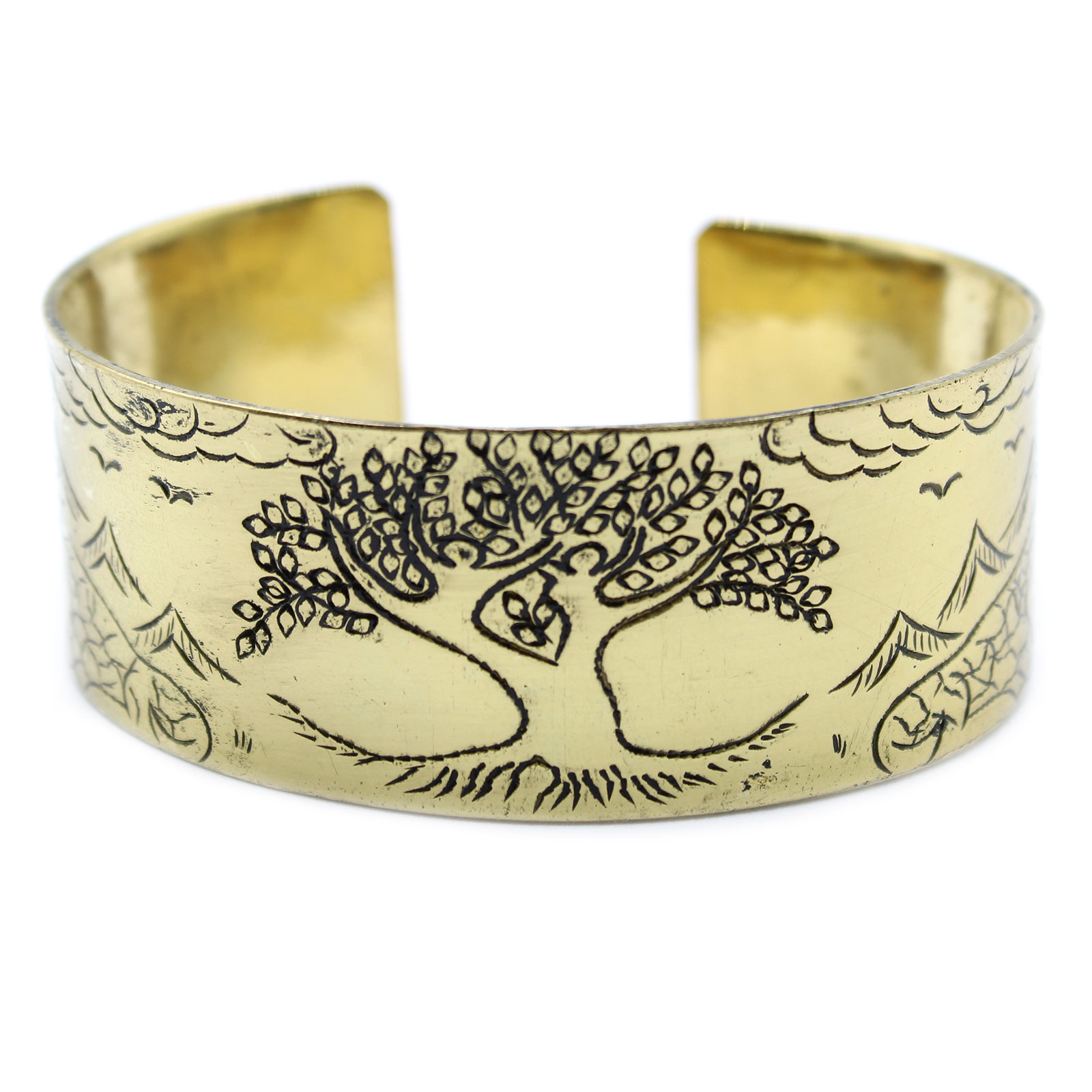 Brass Tibetan Mantra Bracelet Tree of Life