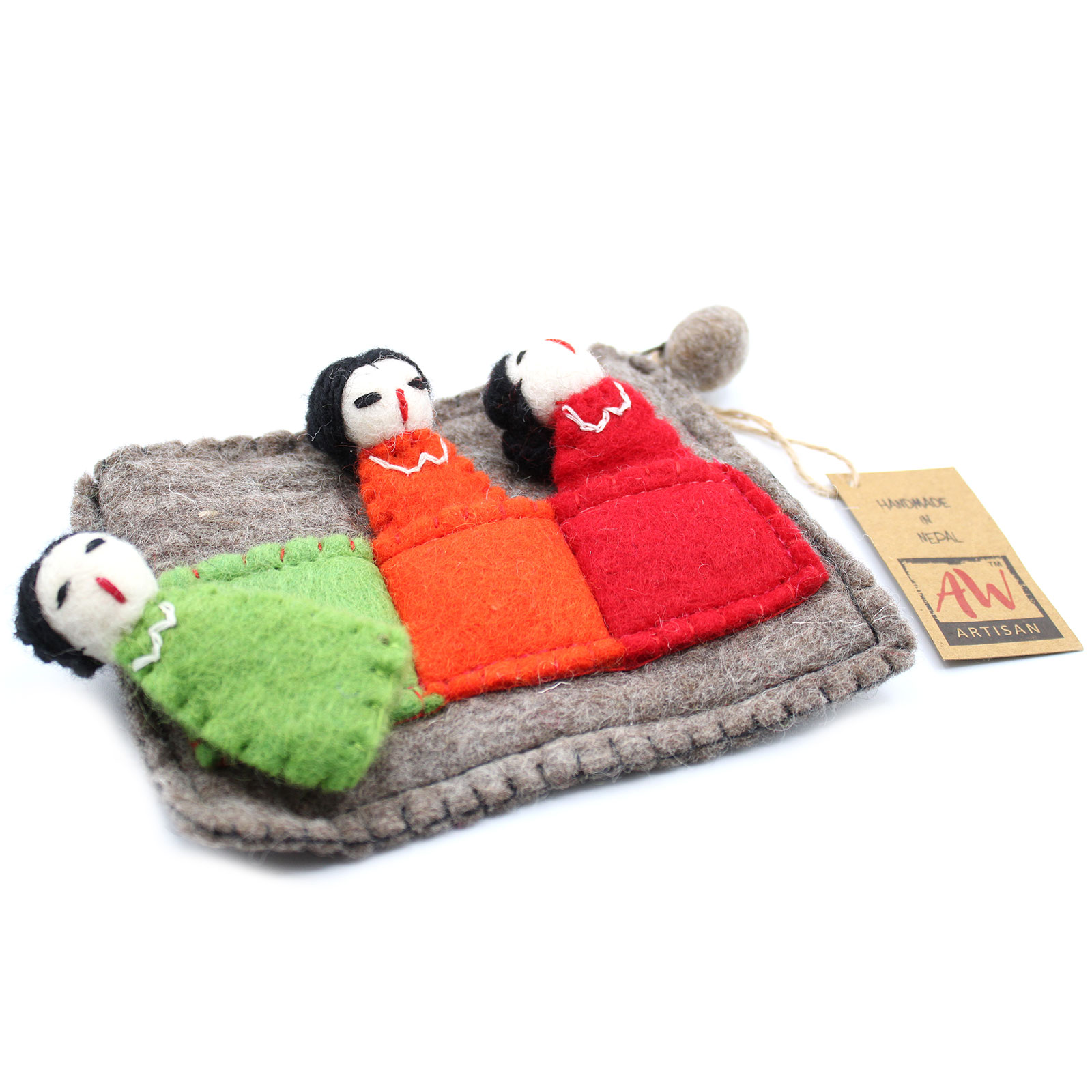 Pouch with Finger Puppets Friends
