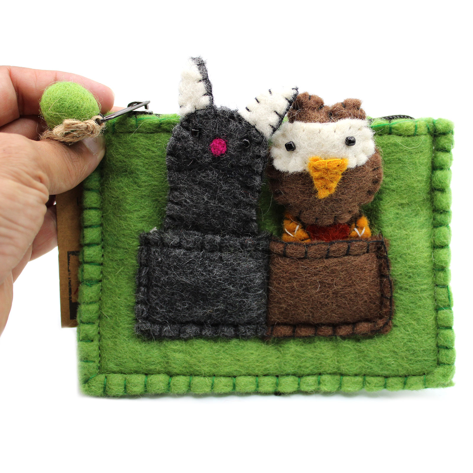Pouch with Finger Puppets Owl and Pussycat