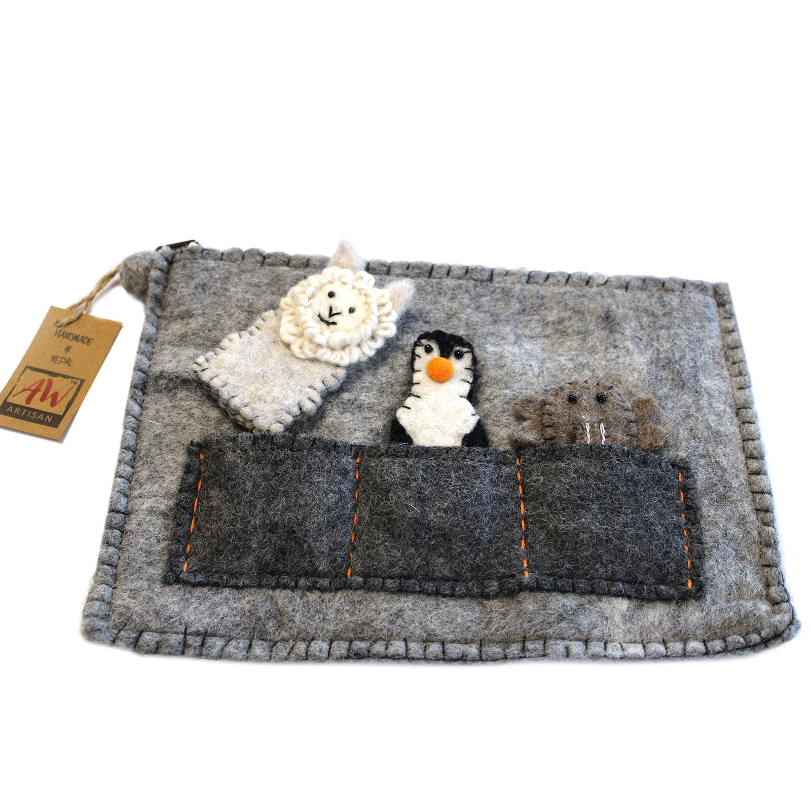 Tablet Pouch with Finger Puppets