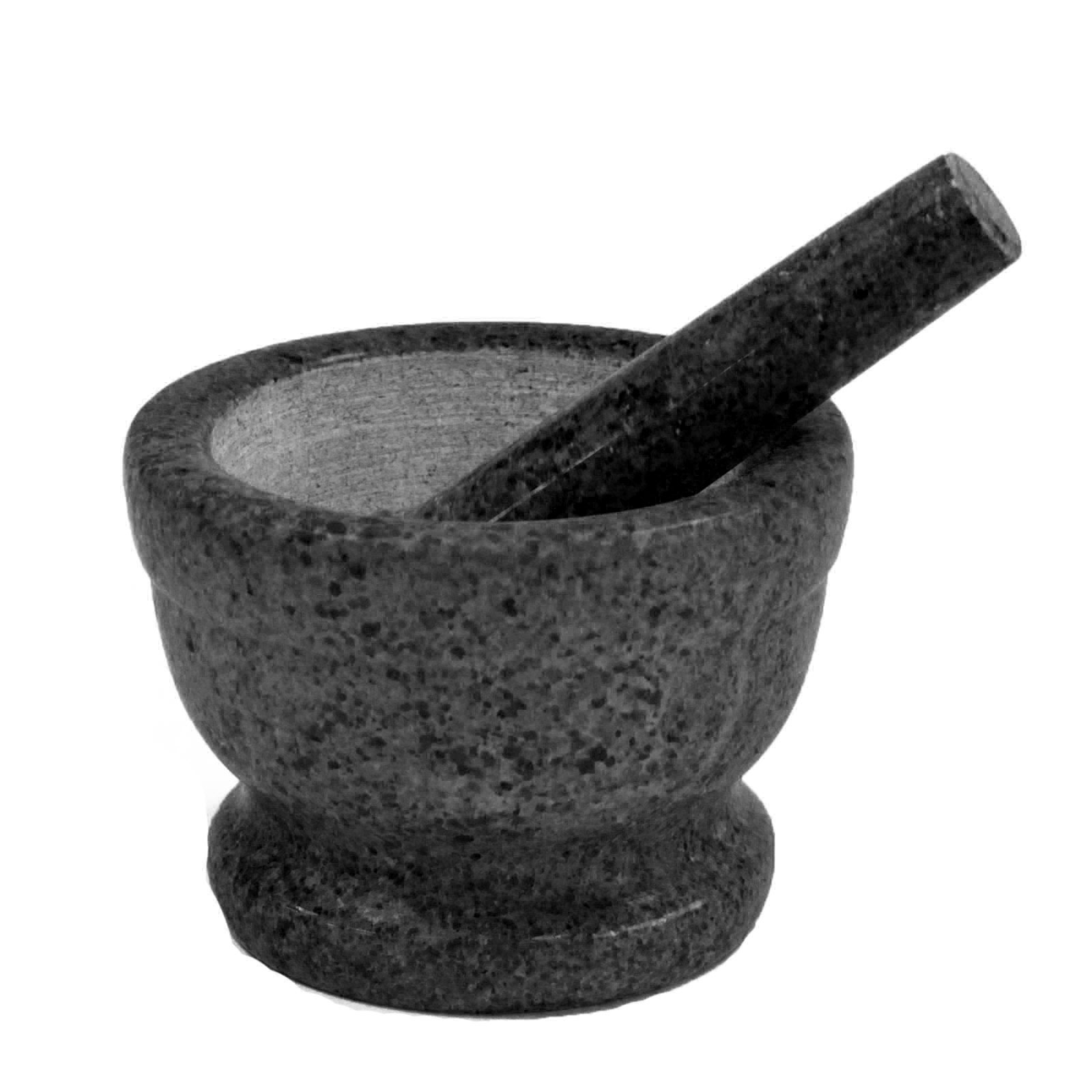 Medium Black Marble Pestle   Mortal 10x7cm