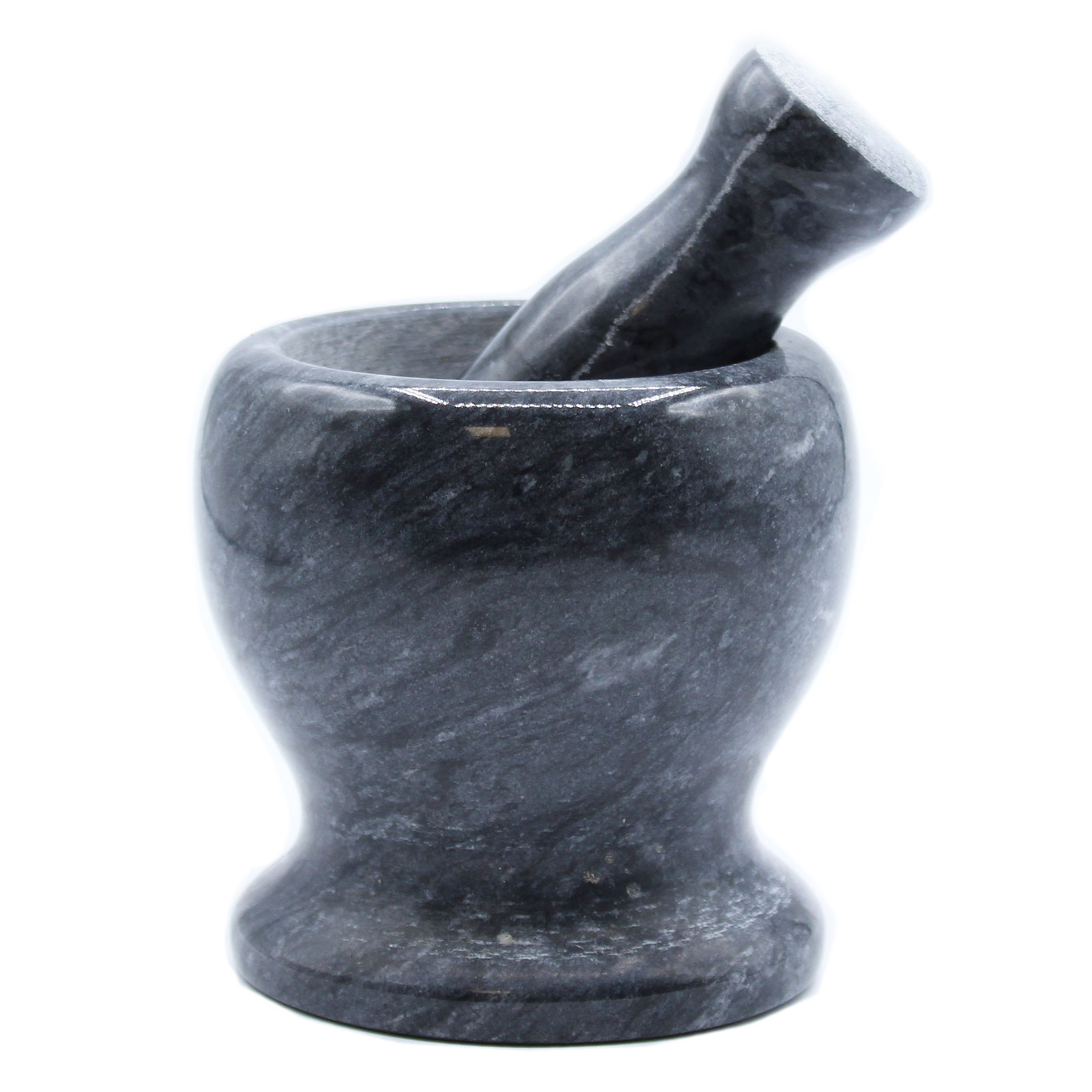 Large Black Marble Pestle   Mortar 11x10cm