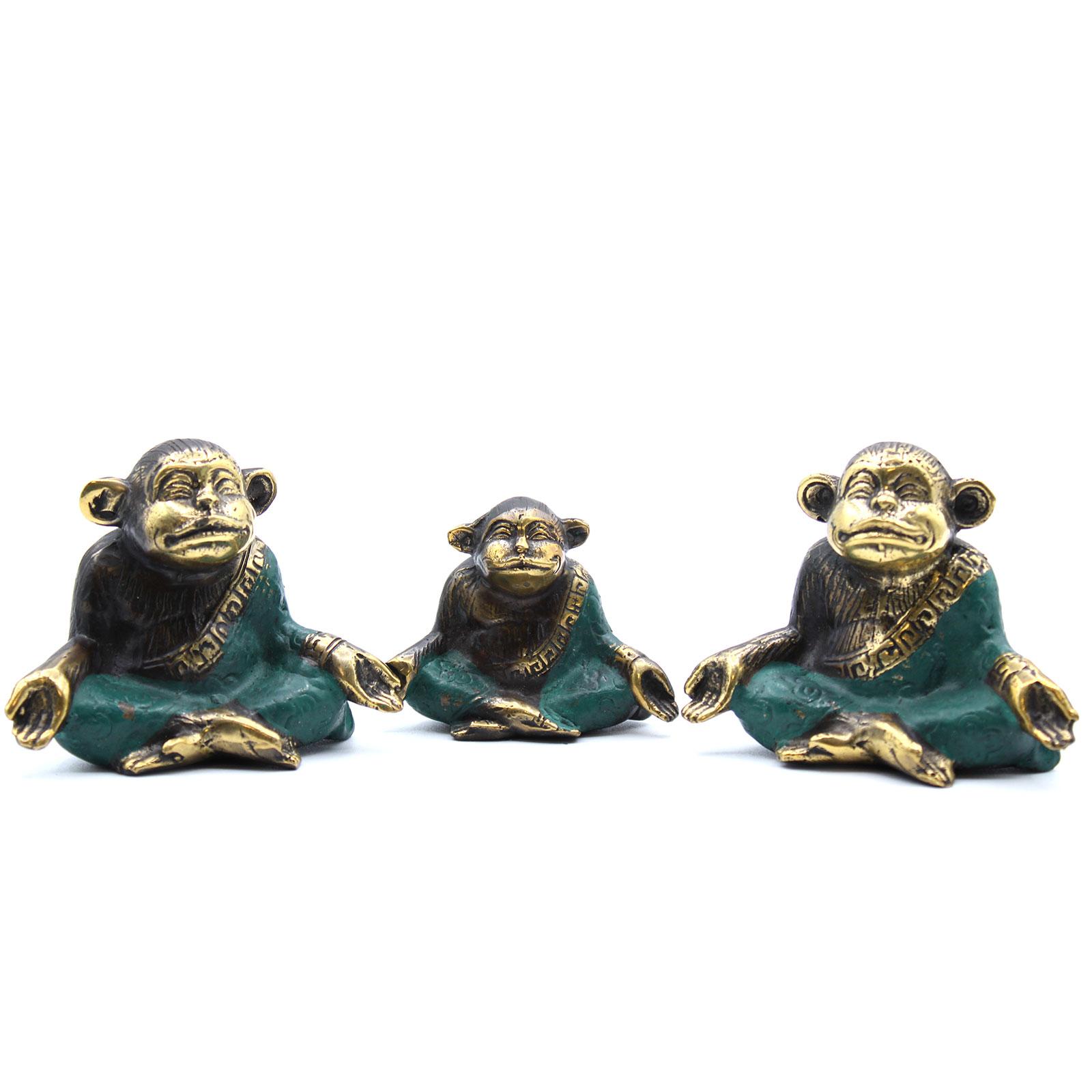Set of 3 Family of Yoga Monkeys asst sizes