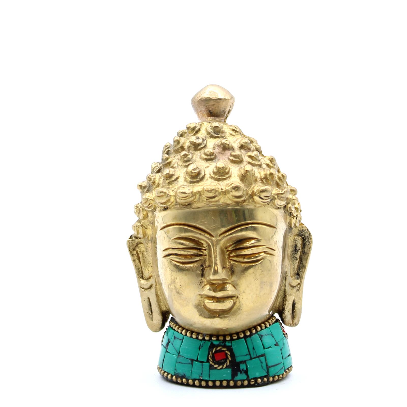Brass Buddha Figure Med Head 8 cm
