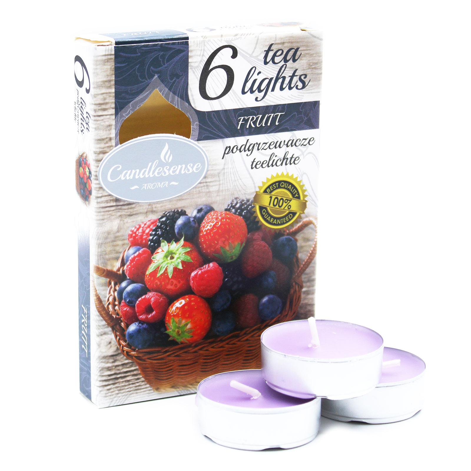 Set of 6 Scented Tealights Fruit
