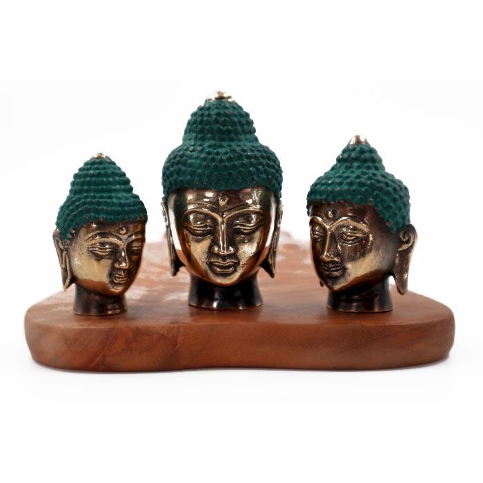 Set of 3 Buddha Heads asst sizes