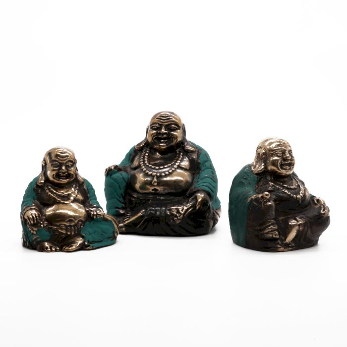 Set of 3 Happy Buddhas asst sizes