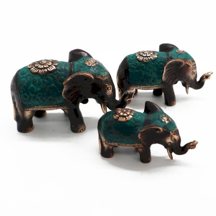 Set of 3 Lucky Elephants asst sizes