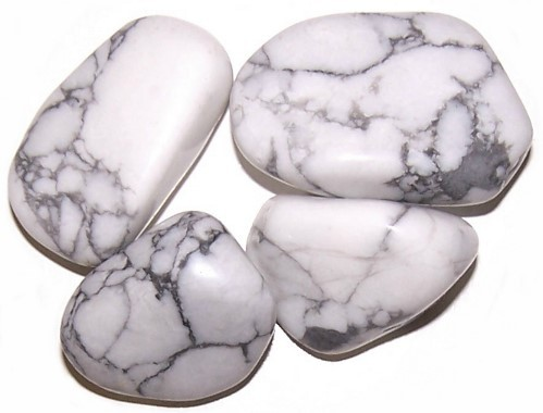 L Tumble Stones Howlite White