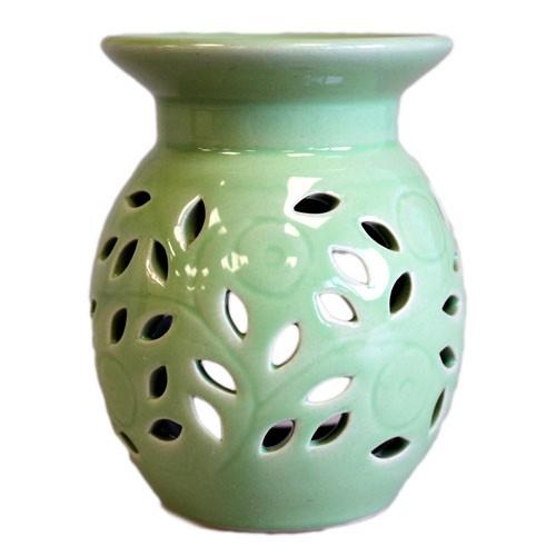 Floral Oil Burner Lime