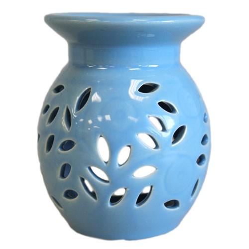 Floral Oil Burner Blue
