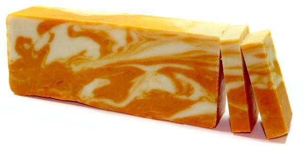 Orange Olive Oil Soap Loaf