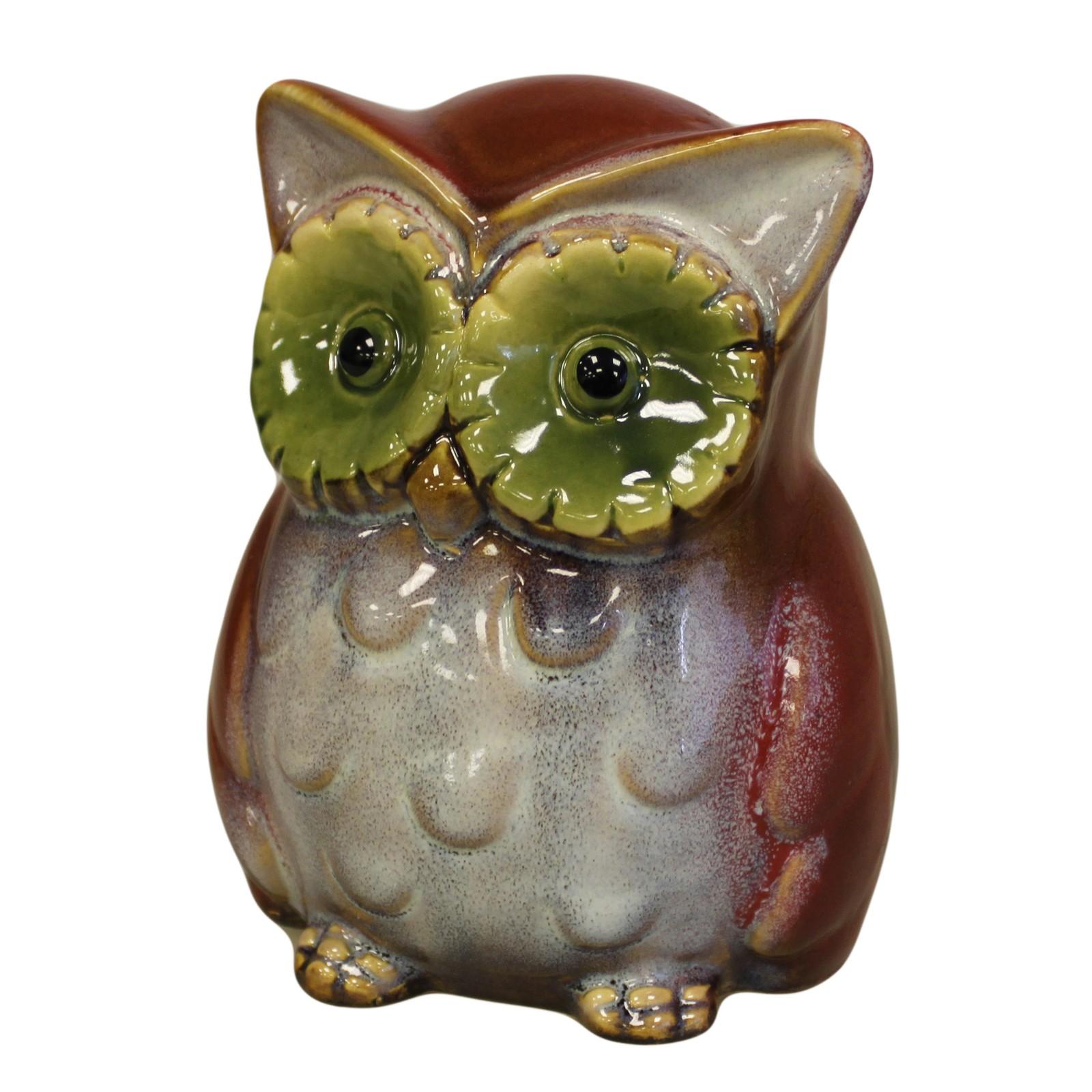 Ceramic Owl Bank Red