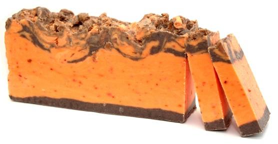 Cinnamon and Orange Olive Oil Soap Loaf