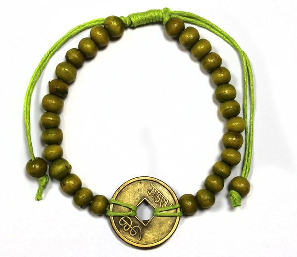 Good Luck FengShui Bracelets Lime Green