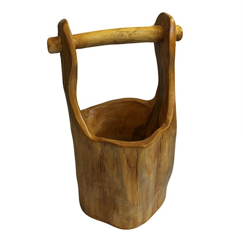Teak Well Buckets aprox 28cm