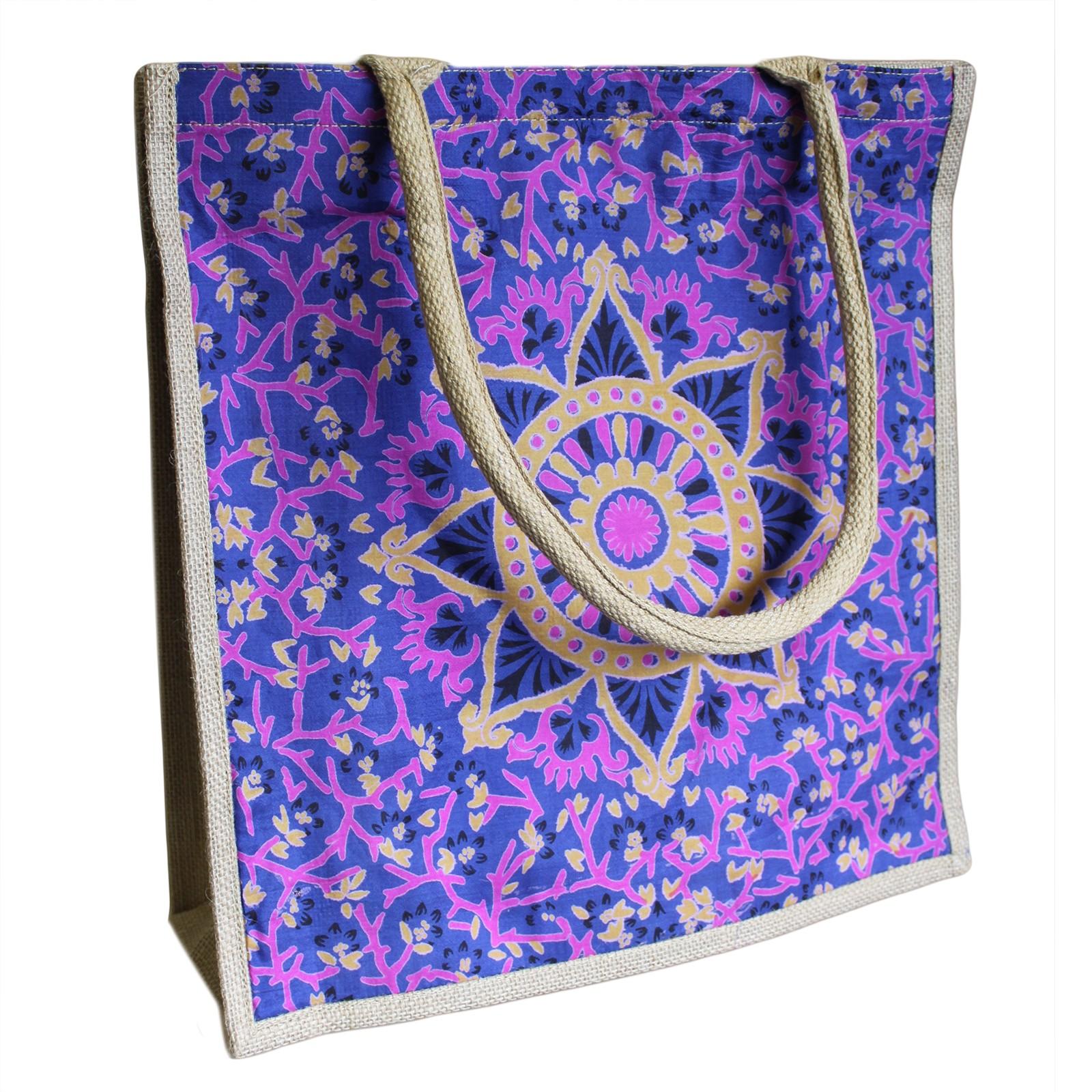 Lrg Shopping Bag 40x40cm Blue Alpana asst