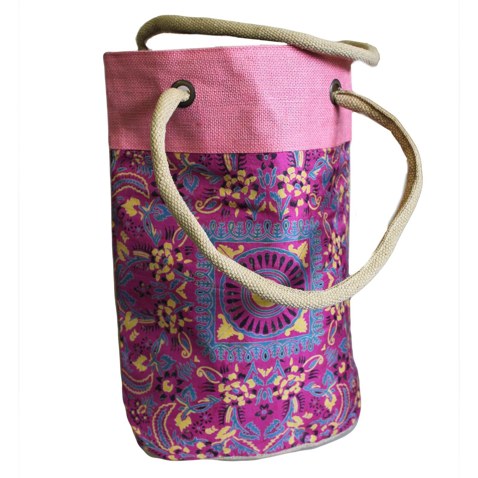 Barrel Shopping Bag 38x37cm Pink Alpana asst