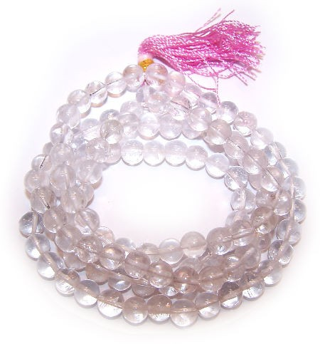 108 Bead Mala Rock Crystal