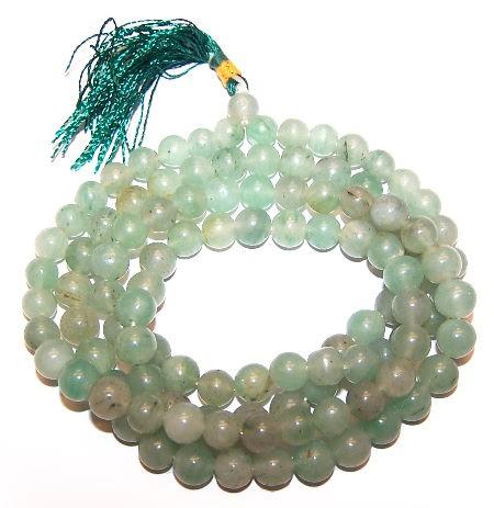 108 Bead Mala Green Aventurine