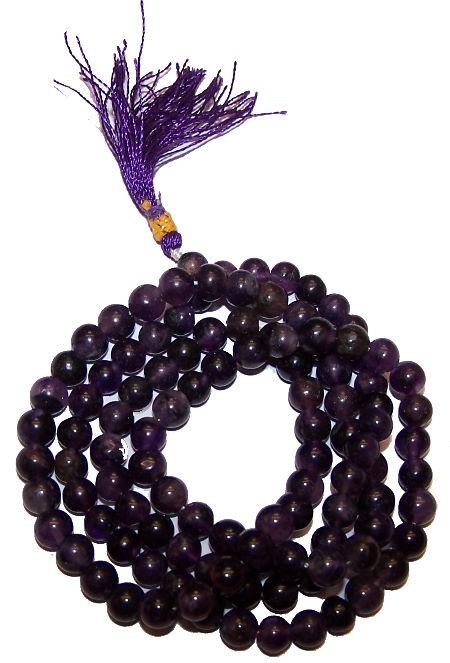108 Bead Mala Amethyst